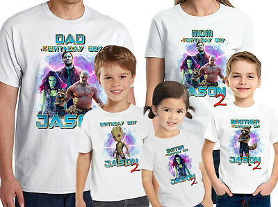 Guardians of the Galaxy Birthday Shirt Custom Name-Age Personalized Family shirt
