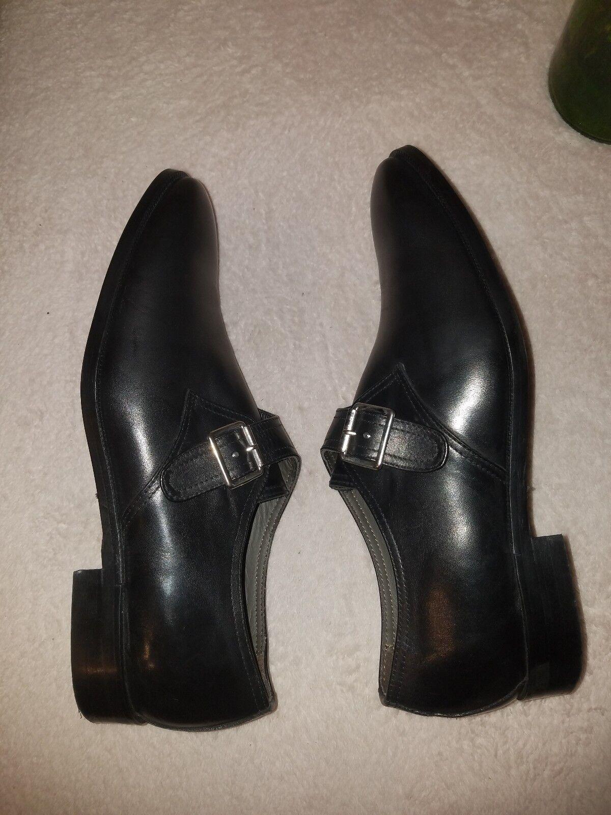 To Stiefel New York Adam Derrick Emmett Monk Strap Strap Strap schuhe schwarz Größe 11.5  395 e64f01