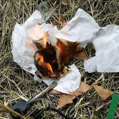 Survival Magnesium Stick Flint Steel Striker Fire Starter Lighter Camping UK so