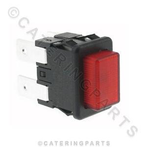 sw49 petit rectangulaire rouge bouton poussoir marche arr t ebay. Black Bedroom Furniture Sets. Home Design Ideas