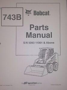 Bobcat 743b Parts Manual Book Skid Steer Early 6720667 Ebay