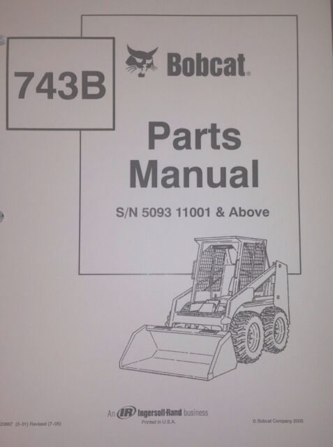 Bobcat Parts Online >> Bobcat 743b Parts Manual Book Skid Steer Early 6720667