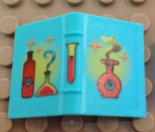 LEGO HARRY POTTER Light Turquoise Book 2 x 3 with Red Bottles Pattern