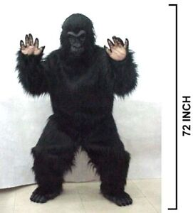 ADULT PROFESSIONAL PLUSH GORILLA COSTUME monkey suit adult size ...