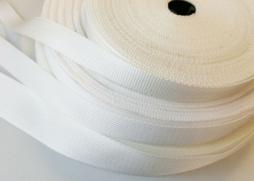 19,25,32,38,50mm Polypropylene Webbing Strapping Bags Straps Weave Nylon Tape UK