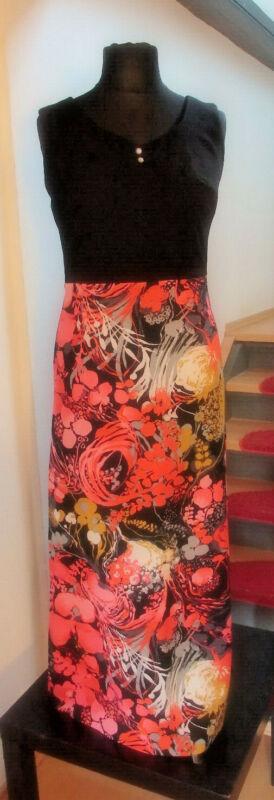 Coronet Kleid ♔ Vintage Maxikleid Mit Schlitz Gr.40 Flowerpower Bloggerstyle Durch Wissenschaftlichen Prozess