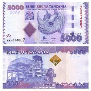 Tanzania-5000-chelines-ND-2015-P-43b-Billetes-Unc