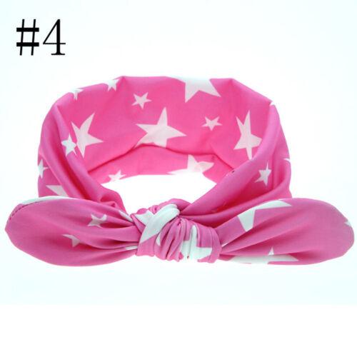 Infant Children Girl Rabbit Ears Fashion Newborn Knot Dot Headband Hair Bands