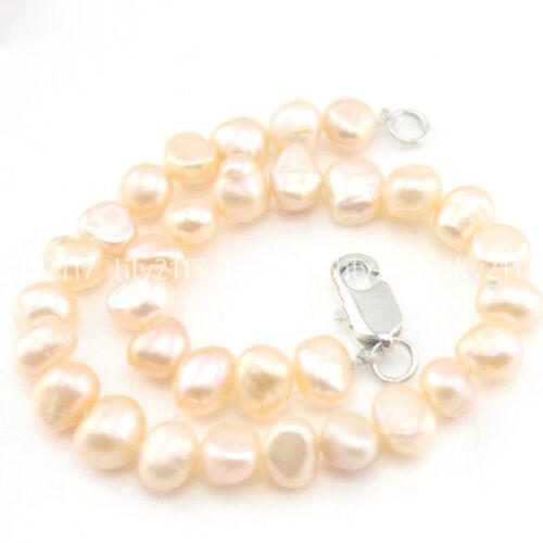 Naturel 5-6//6-7mm Freeform Freshwater Pearl plaqué argent fermoir bijoux bracelet