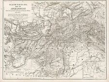 MAP ANTIQUE MILITARY US ARMY 1878 AFGHAN WAR LARGE REPLICA POSTER PRINT PAM1119