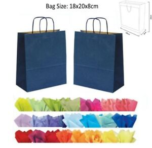 navy blue paper gift bags with handles