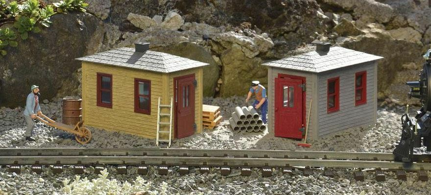 PIKO G SCALE RAILROAD TOOL SHED 2-PK BUILT UP | BN | 62718