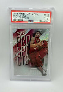 2018-Panini-National-Convention-Trae-Young-199-NBA-Prospects-RC-Rookie-PSA-9
