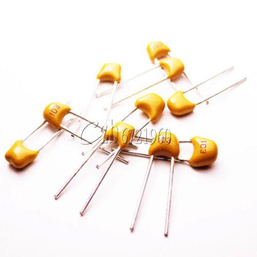 100Pcs NEW 0.01uF 103 50V Monolithic Ceramic Chip Capacitor