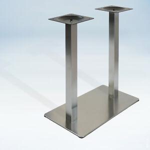 untergestell edelstahl tischgestell doppel tischfu metallgestell tischplatte. Black Bedroom Furniture Sets. Home Design Ideas