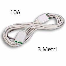 3 m Spina 10A presa 10A Cavo elettrico a molla Prolunga a spirale estensibile