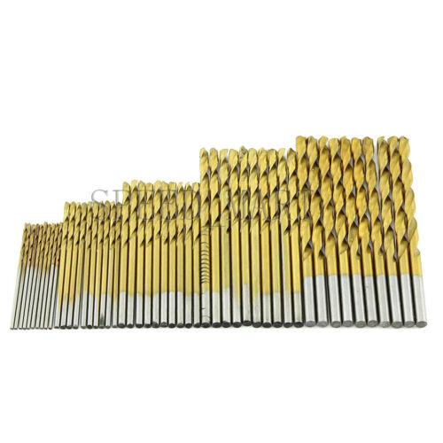 50 PCS Titanium Coated HSS Vogue Steel Drill Bit Set Tool 1//1.5//2//2.5//3mm
