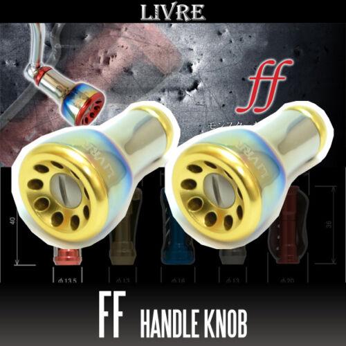 LIVRE ff Titanium Handle Knob2 pieces FIRE GOLD Fortissimo