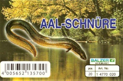 """Aalschnüre 3er SET /""""Balzer/"""" mit 20 Haken ~ Schnüre zum Aalangel"""