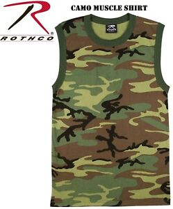 c4c1e780358a3f Image is loading Woodland-Camouflage-Army-Marine-Military-Muscle-Shirt-Tank-
