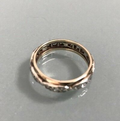 a912c6a700202 Women's 9ct Gold Vintage Eternity Ring Size M 1/2 Weight 2.71g | eBay