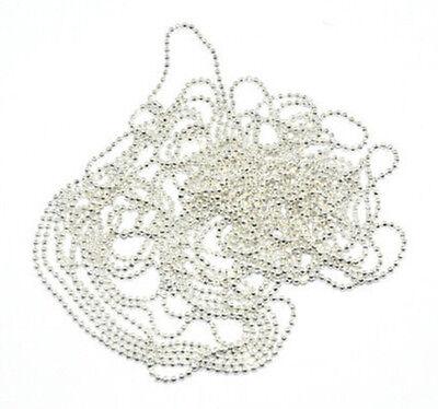 2015 1M Nail Art Tip Metal Glitter Striping Tape Ball Beads Chain Line 3D CA3 HU