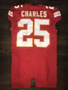 Jamaal Charles signed Game Issued pro-cut Jersey not worn not used ...