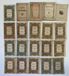 20pc Lot of Antique American Tract Society Booklets Short Stories New York XIXc