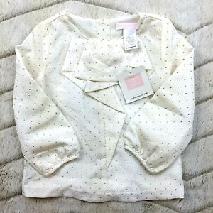 NWT-JANIE-amp-JACK-TODDLER-GIRLS-IVORY-BEIGE-HOLIDAY-BLOUSE-TOP-SHIRT-18-24-MOS