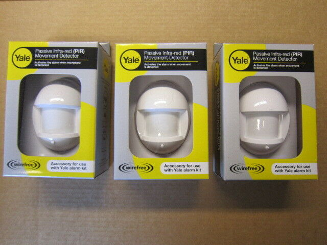 NEW Yale HSA6020 x 3 PIRS NEW 2 yr warrty for HSA3/6000 range alarms NOT EF/SR