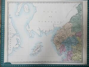 Map Of Nw England.1865 Good Size Sduk Walker Map Of England And Wales Sheet 2 Nw Ebay
