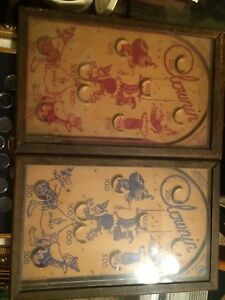 Vintage-Early-1900-039-s-Clownin-Pinball-Machines-Games-Functional-Toys-St-Louis