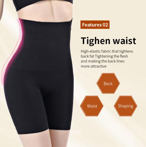 Women Slimming Tummy Control High Waist Body Shaper Shorts Butt Lifter Pants UK