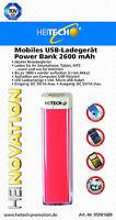 Power Bank Externer Akku 2600mAh mobiles USB-Ladegerät für Smartphone Tablet MP3