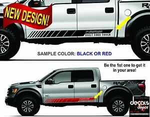 FORD-F-150-250-HD-XL-XLT-SXT-Platinum-King-Ranch-Crew-Cab-Vinyl-Decal-Stripes
