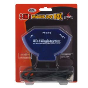 3-in-1-Magic-Joy-Box-Playstation-1-2-GC-XBOX-to-PC-USB-Adapter-Converter-C7