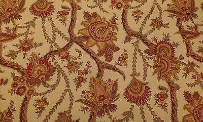 DURALEE BOTEH BLOSSOM CARAMEL JACOBEAN FLORAL COTTON MULTIUSE FABRIC BY THE YARD