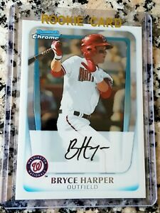 BRYCE-HARPER-2011-Bowman-CHROME-1-Draft-Pick-Rookie-Card-RC-Phillies-HOT