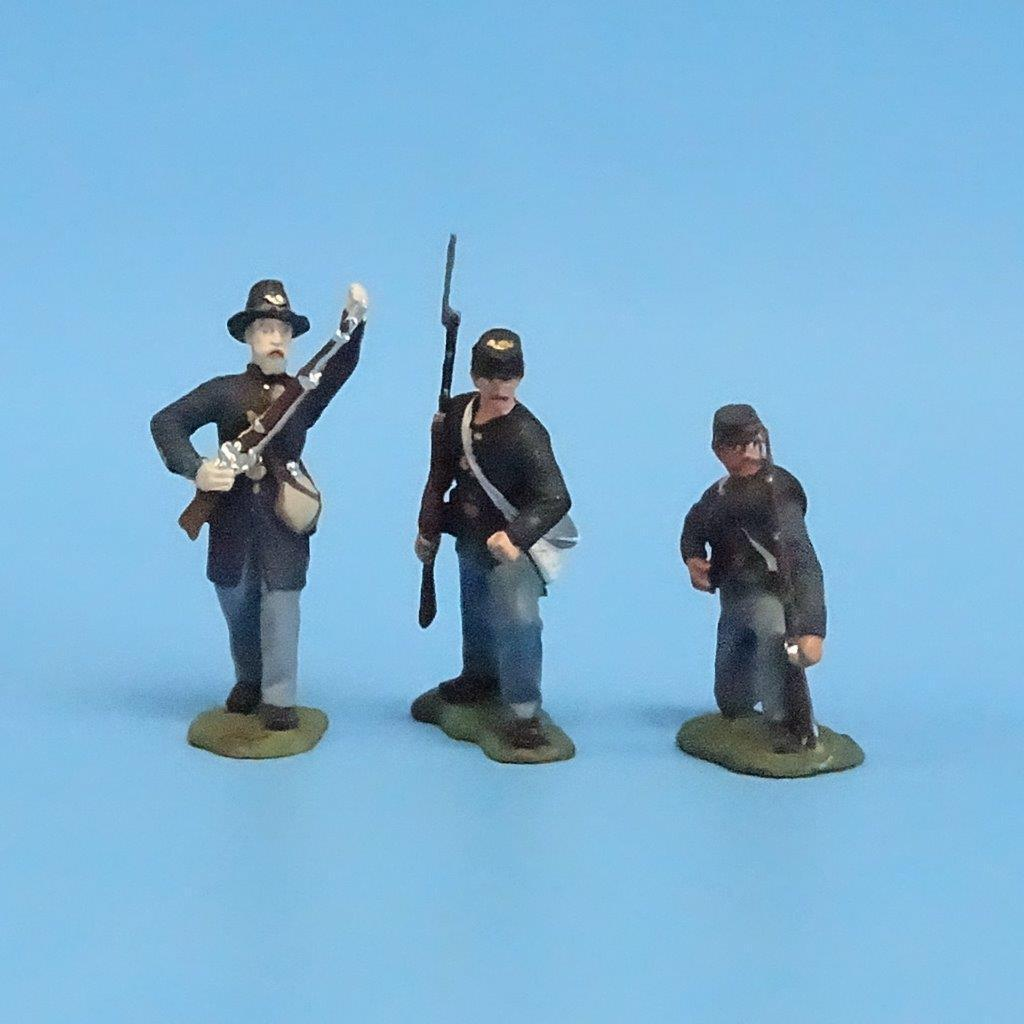 CORD-207 - Iron Brigade (3 Figures) - ACW - Manufacturer Unknown - 54mm Metal