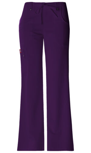 Dickies 82011 Mid Rise Drawstring Cargo Pant Eggplant