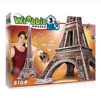Eiffel Tower 3D Puzzle 816 Pcs by Wrebbit Toys