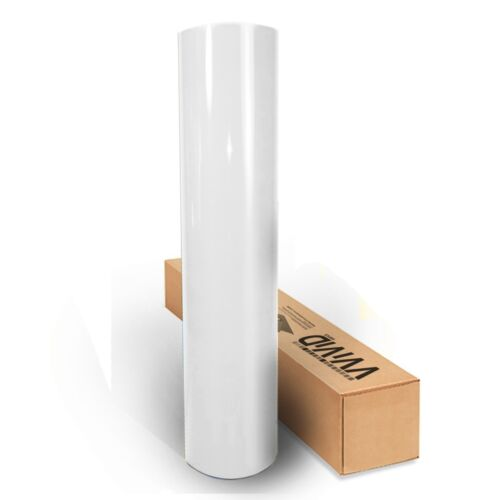 "1ft x 60/"" White gloss vinyl car wrap DIY sheet roll film satin sticker decal"