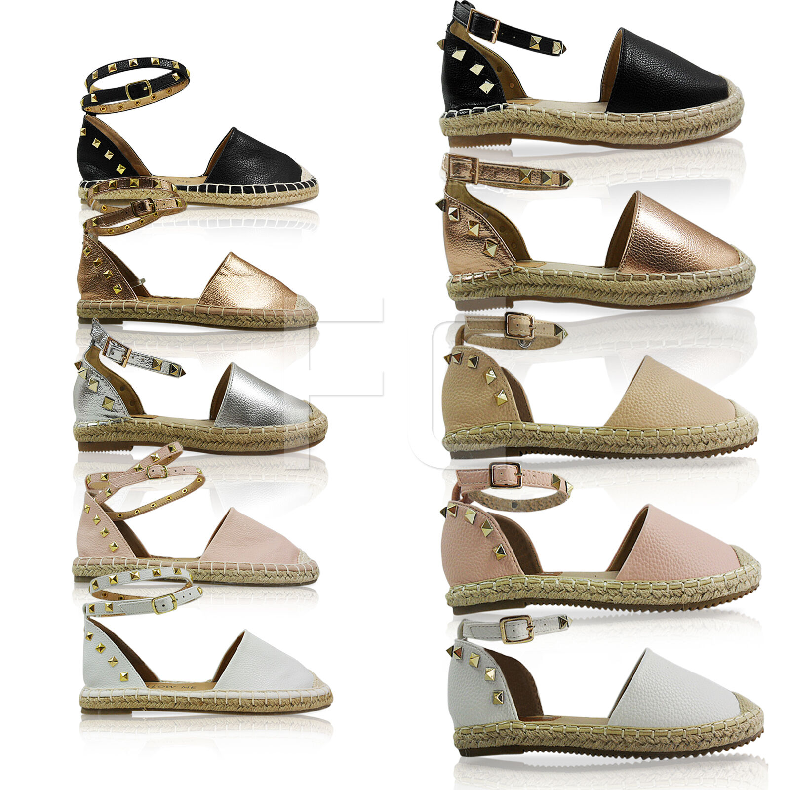 NEW WOMEN LADIES FLAT LOW SUMMER HEEL ESPADRILLES ANKLE STRAP SUMMER LOW SANDALS SHOES SIZE 4f97dd