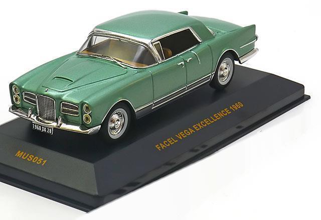 FACEL VEGA EXCELLENCE 1960 LIGHT GREEN GREEN GREEN METAL IXO MUS051 1 43 green CLAIR METALLIC 7be196