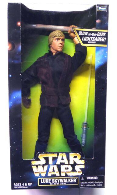 """12"""" Luke Skywalker in Jedi Gear Action Figure New 1998 Star Wars Hasbro"""