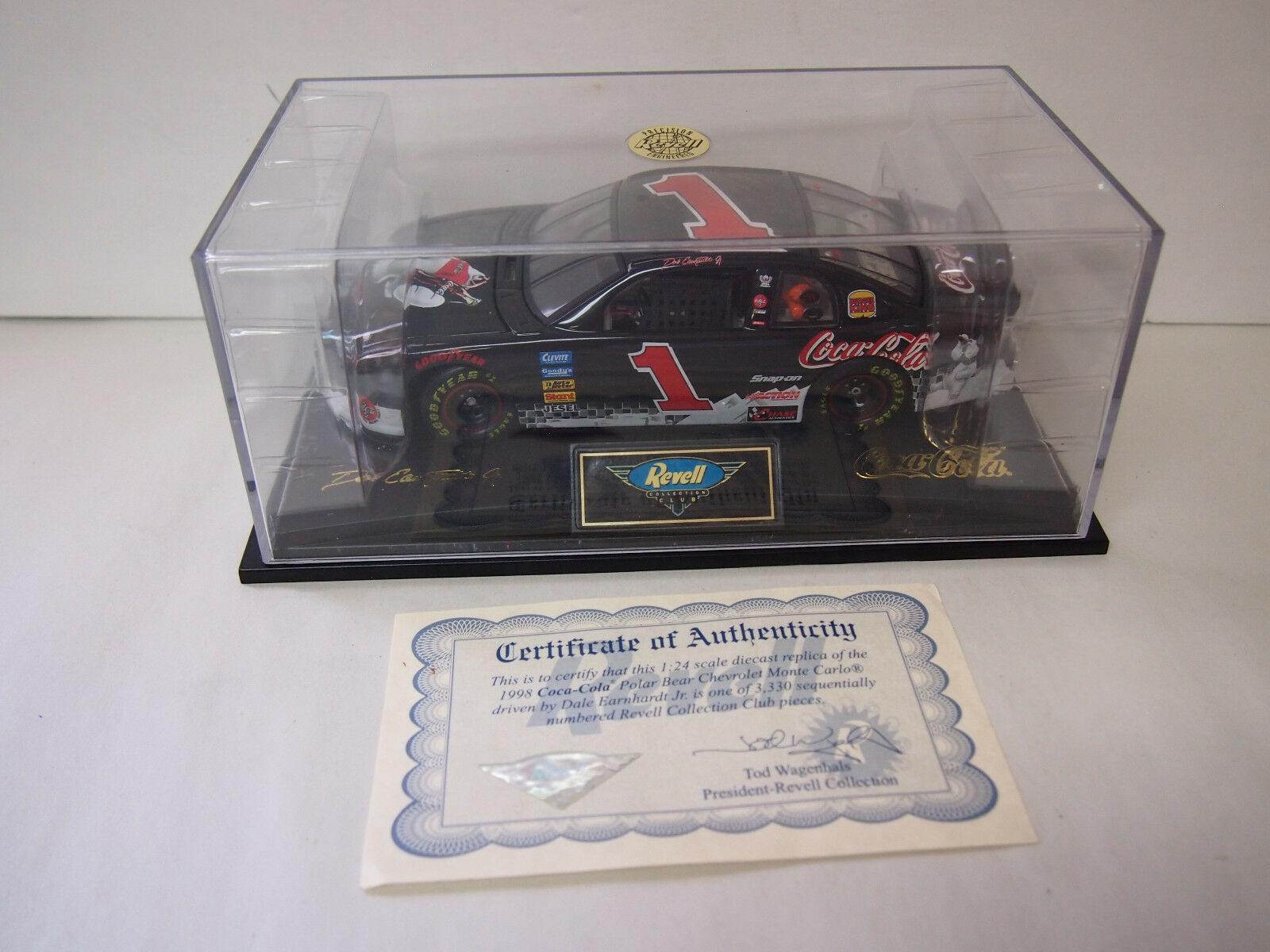1998 Dale Earnhardt Jr. Revell 1 24 Coca Cola Monte Carlo  COLLECTION CLUB