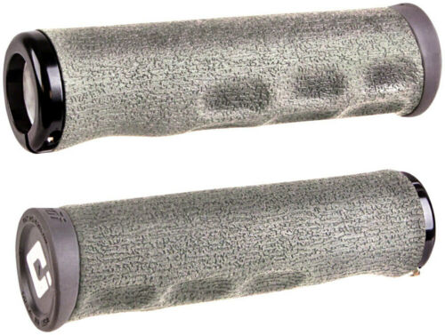 ODI Dread Lock Surfaced Grips With Ergonomic Cutouts for Comfort Graphite Gray