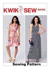 Kwik Sew K4169 Pattern Misses Dresses /& Sash XS-XL BN