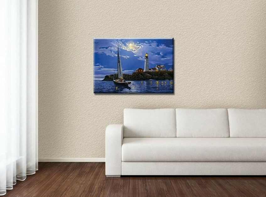 new led lighted canvas beautiful sky wall art prints picture home office decor ebay. Black Bedroom Furniture Sets. Home Design Ideas