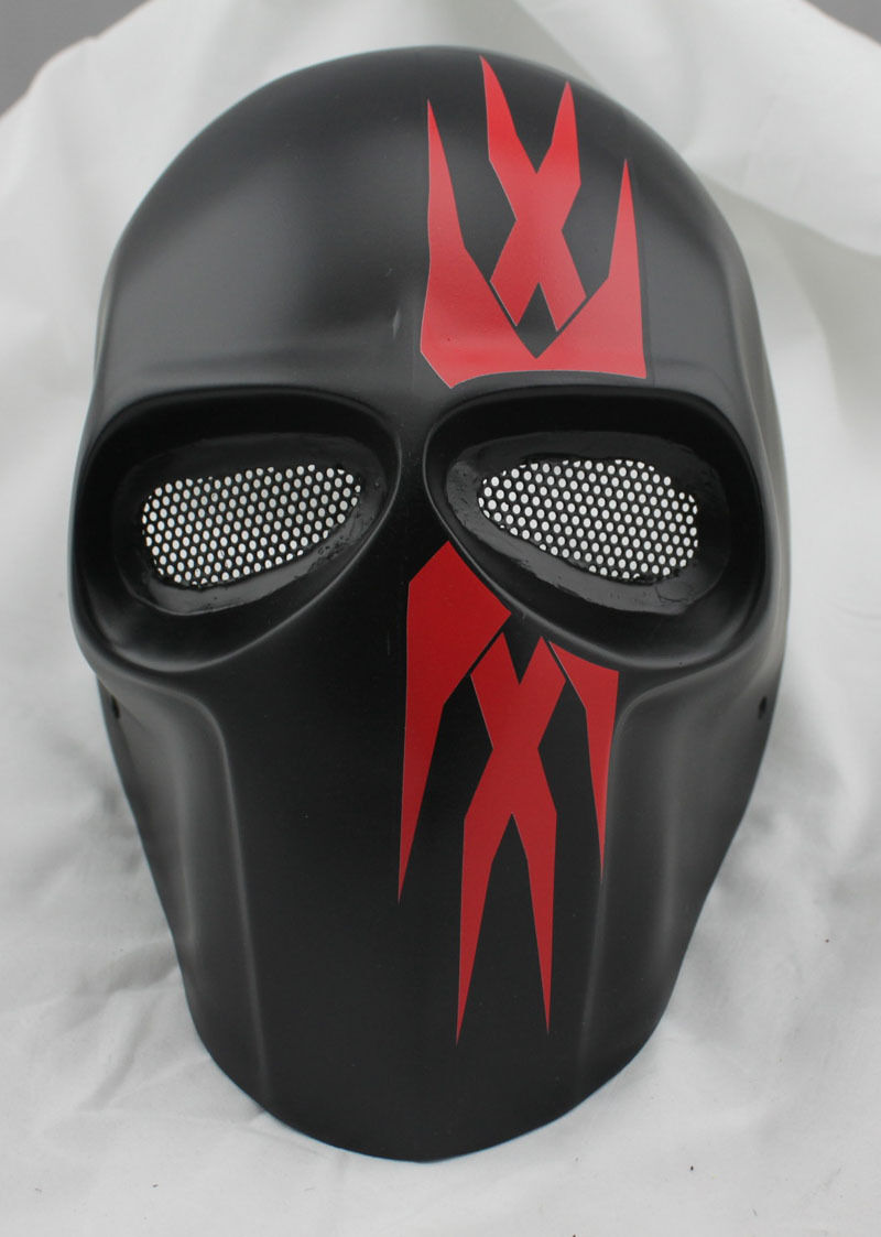 Mask Paintball Airsoft Full Face Predection Skull Mask Prop Halloween M00429